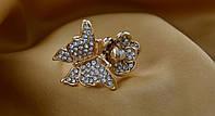 Красивое кольцо Бабочка ,с цирконами