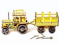 Деревянный 3Д пазл-конструктор Экогудс Трактор (Tractor)