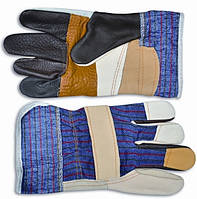 Перчатки кожаные утолщенные L