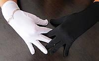 Перчатки для продавцов ювелирных магазинов белые/черные, фото 1