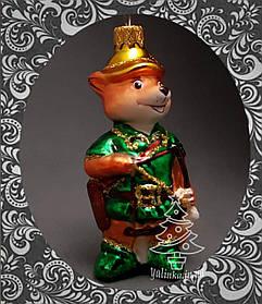 Стеклянная елочная игрушка Робин-Гуд с луком 367/с