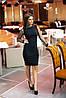 Нарядное элегантное платье с сетчастыми рукавами и съемным шарфом, норма и батал большие размеры, фото 10