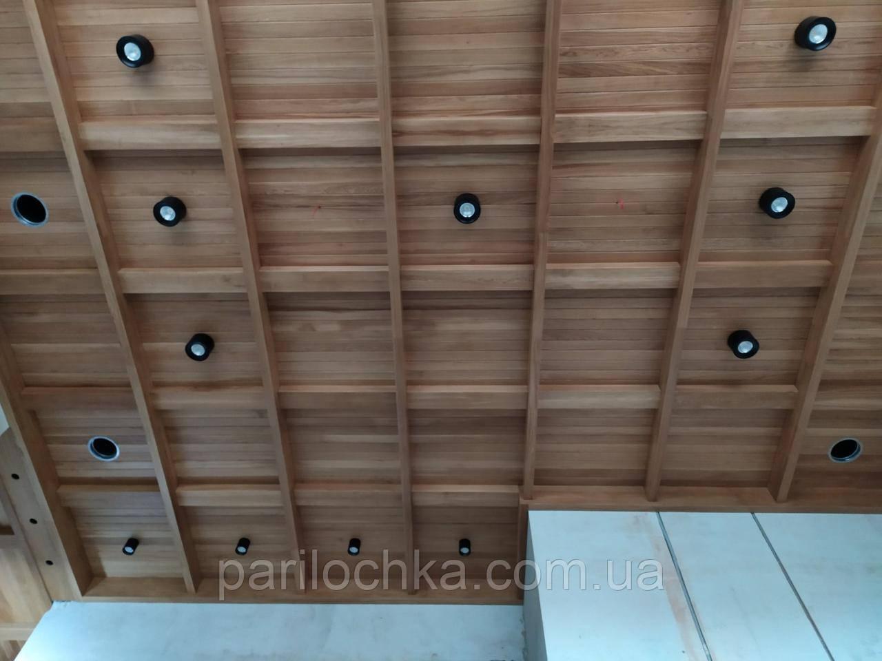 Деревянная балка-короб для декора