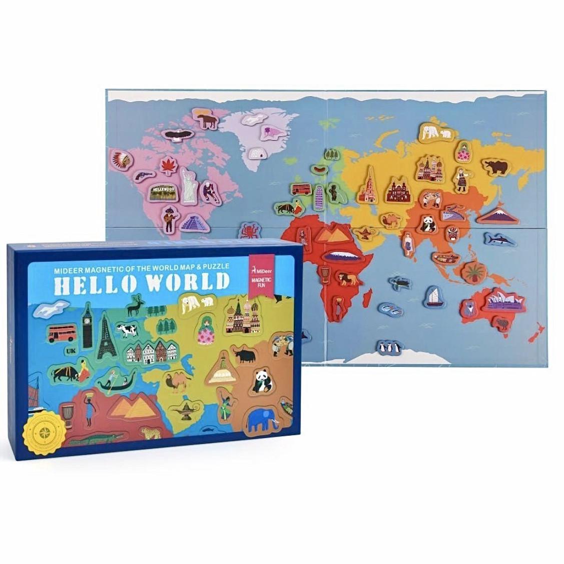 """Магнитная книга """"Карта мира"""" MiDeer Toys"""