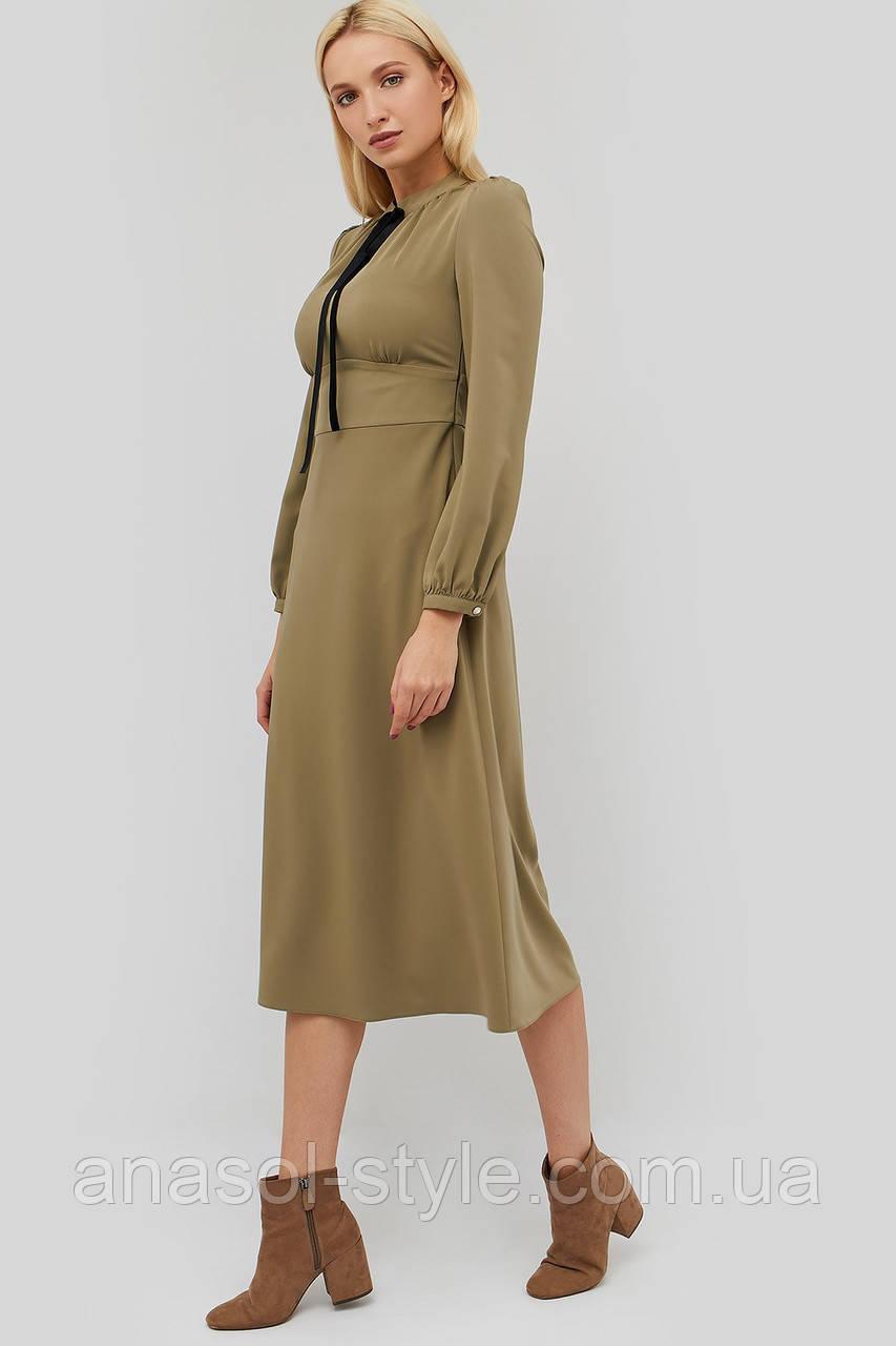 """Платье """"ORSEDO"""" оливковый весна-осень"""