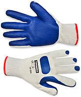 Перчатки б/п, крупная вязка, текстурный уплотненный латекс L-XL