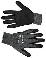 Перчатки тонкая двойная вязка, мягкий вспененный латекс L-XL