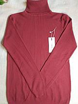 Темно-розовый гольф женский теплая мягкая на размеры до 48го водолазка женская розовая, фото 2