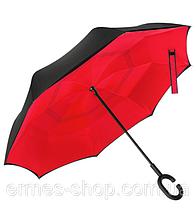 Зонтик одноцветный umbrella зонт наоборот  КРАСНЫЙ