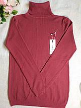 Темно-розовый гольф женский теплая мягкая на размеры до 48го водолазка женская розовая, фото 3