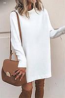 Женское платье прямое короткое бохо длинный рукав