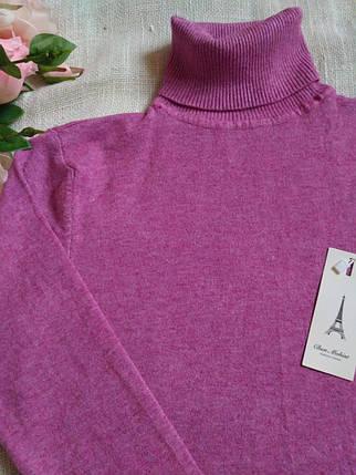 Сиреневый гольф женский зимний розовый водолазка женская розовая размер до 48го универсальный, фото 2