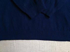 Синий гольф женский шерстяной базовый теплый S \ XL 40 42 44 46 48 водолазка женская синяя, фото 3