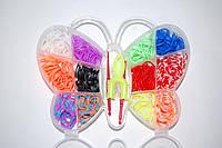 Набор резиночек для плетения Rainbow Loom Bands Бабочка 600 шт., фото 1