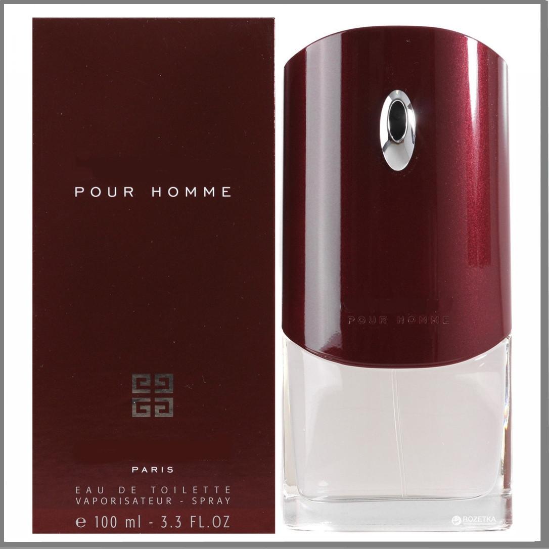 Мужские Pour Homme туалетная вода 100 ml. (Бордовый Пур Хом)