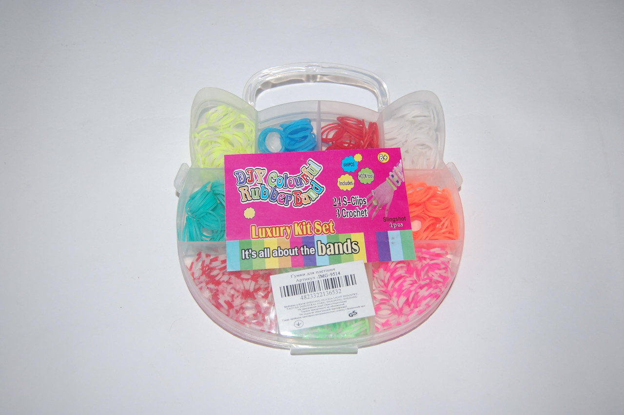 Набор резиночек для плетения Rainbow Loom Bands Кошечка 600 шт., фото 1