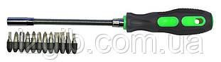 """Держатель гибкий магнитный для отверточных насадок """"+/*/-"""" 12 насадок 155 мм"""