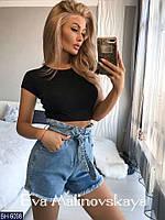 Женские шорты, ткань джинс, размеры от 42 до 50 размер 50