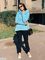 Женский теплый костюм на флисе (белый, чёрный, красный и голубой)