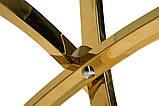 Стол обеденный круглый T-317 прозрачная столешница ноги золото диам. 80 см Vetro Mebel, фото 7