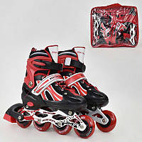 Ролики 2003 L Best Roller цвет Красный размер 38-41, колеса Pvc, Переднее Колесо Свет, в сумке, d7см - 185891