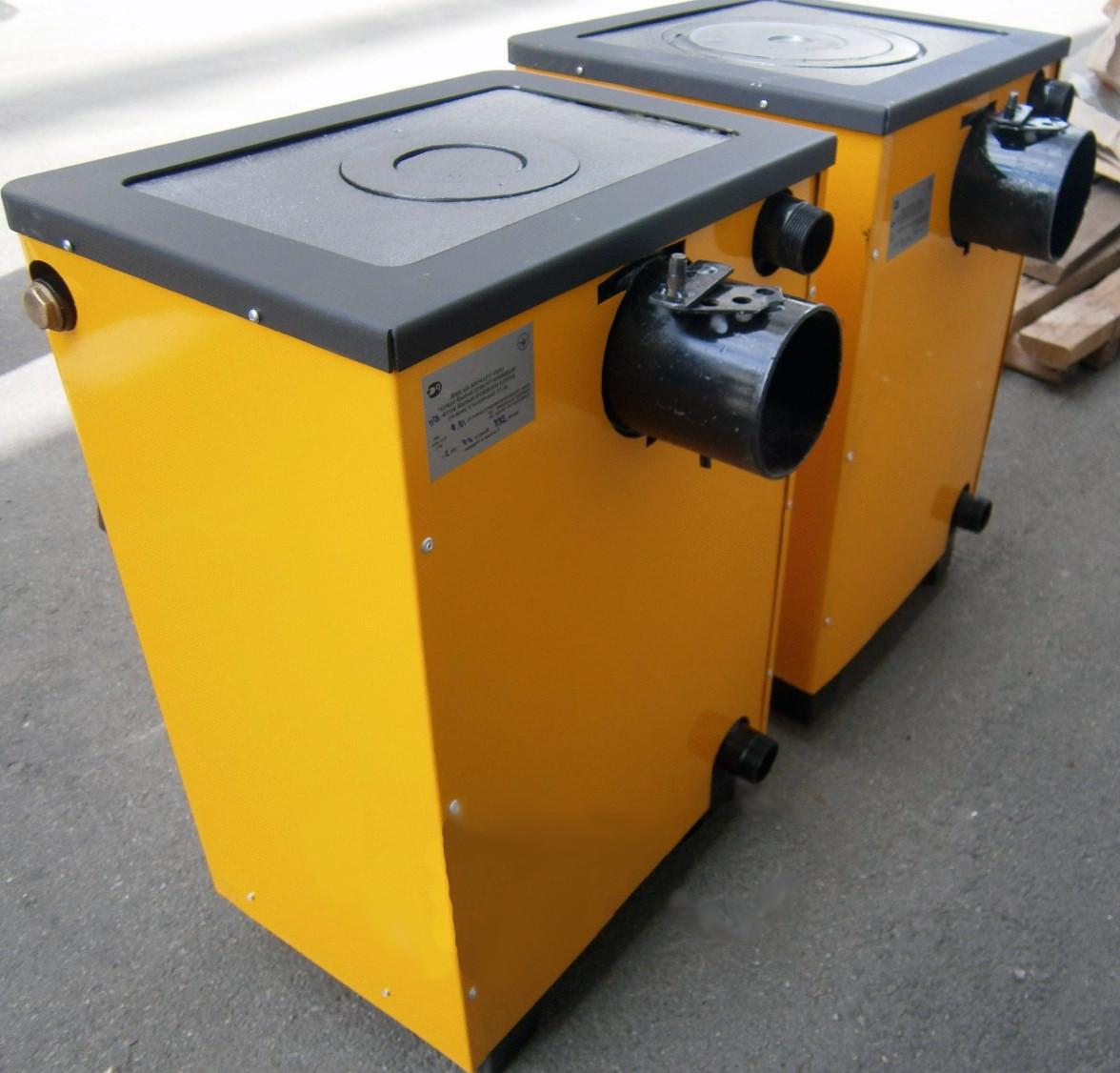 Твердотопливный котел Огонек 14П кВт (с плитой)