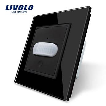 Сенсорный выключатель с датчиком движения Livolo черный стекло (VL-C701RG-12)