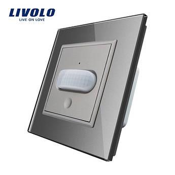 Сенсорный выключатель с датчиком движения Livolo серый стекло (VL-C701RG-15)