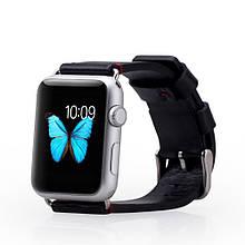 Ремешок MOMAX Genuine Кожа для Apple Watch 38mm черный