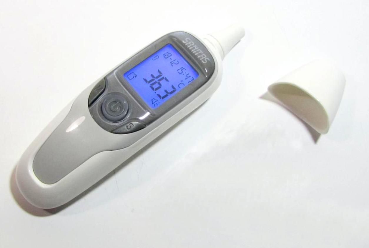 Термометр бесконтактный Sanitas SFT75 градусник пирометр электронный