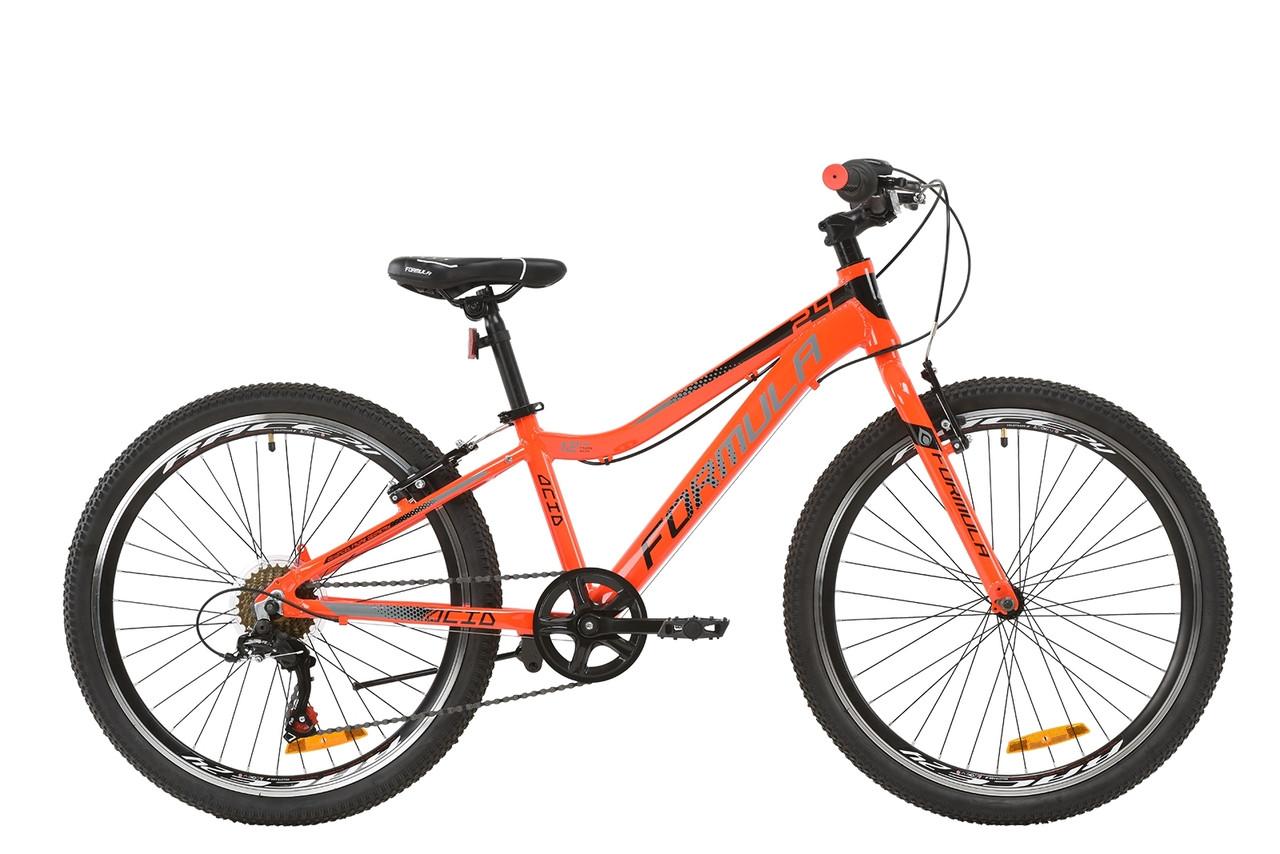 """Велосипед подростковый 24"""" Formula ACID 1.0 Vbr 2020 (рама 12"""", красно-оранжевый)"""