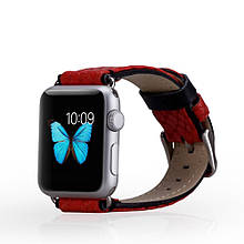 Ремешок MOMAX Genuine Кожа для Apple Watch 38mm красный