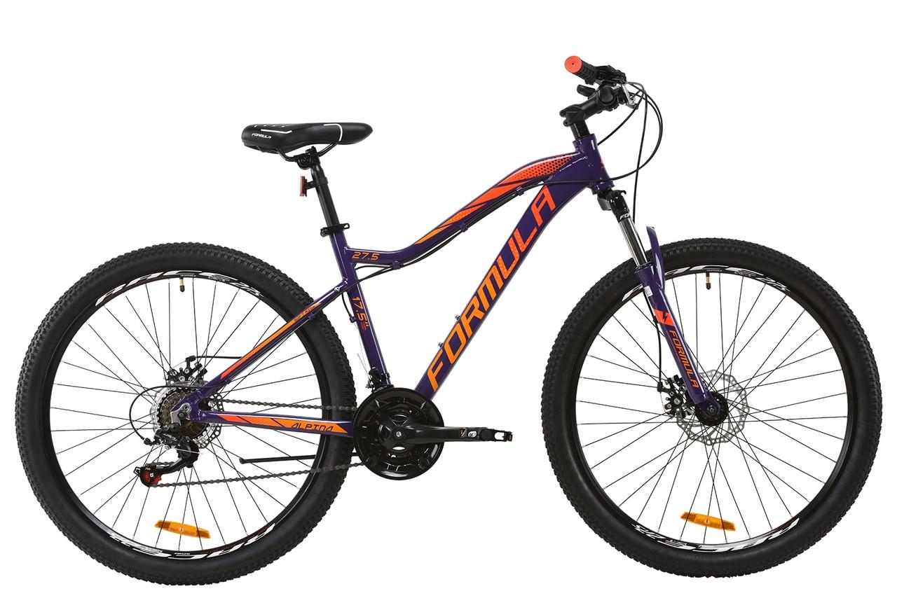 """Велосипед горный 27.5"""" Formula ALPINA DD 2020 (рама 17,5"""" фиолетовый)"""