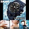 Спортивные мужские часы Skmei 1155 B HAMLET синий джинс, фото 4