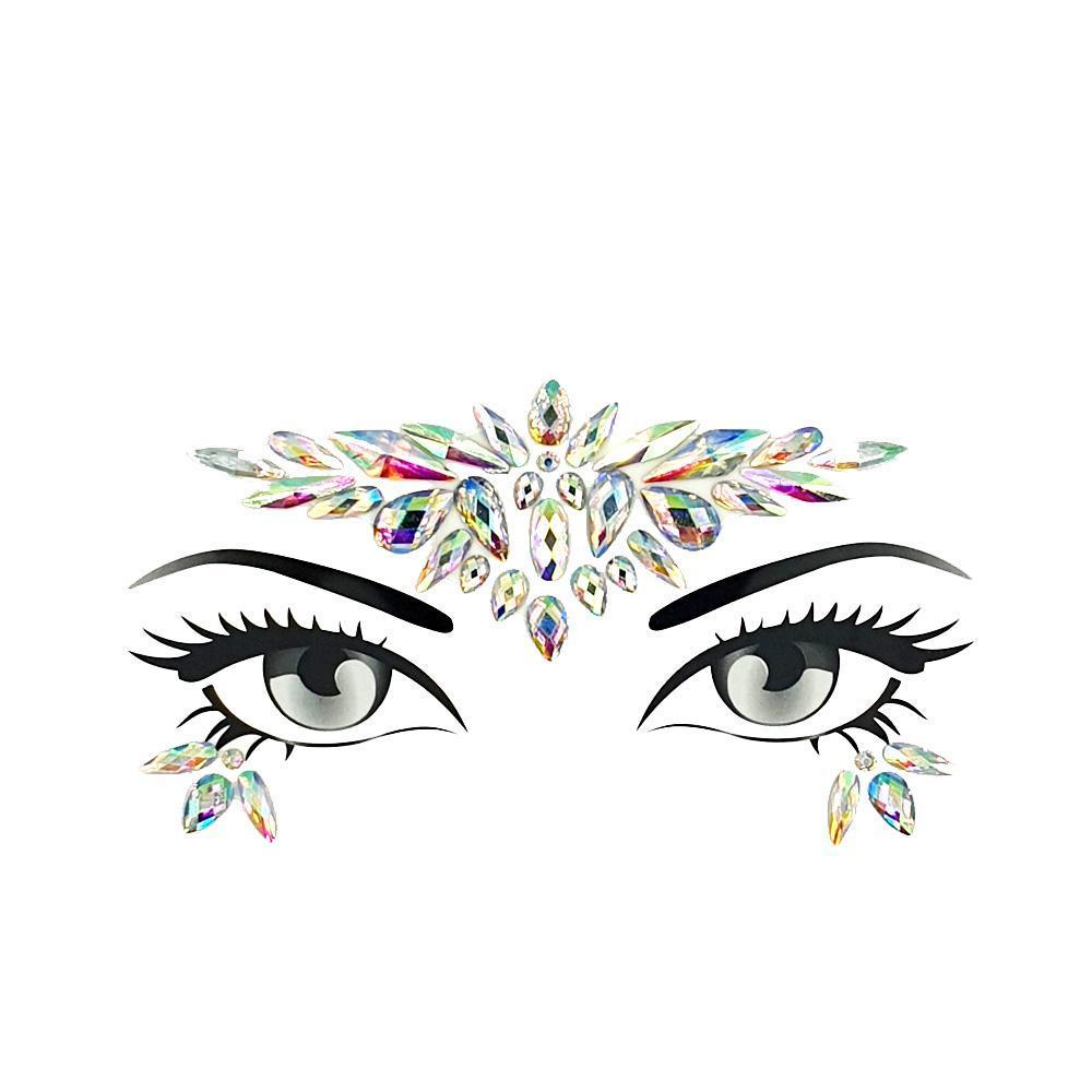 Стразы-наклейки для макияжа и боди-арта 5