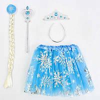 Карнавальный набор для девочки, юбка, коса, жезл, корона - 203908