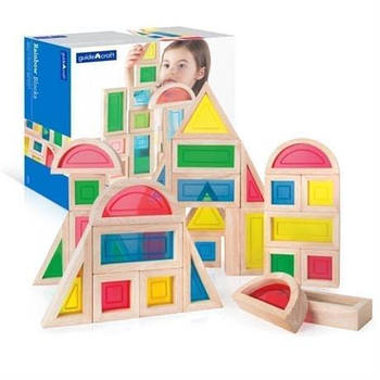 Набор стандартных блоков Guidecraft Block Play Большая радуга, 30 шт. (G3016)