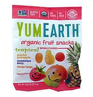 Фруктовые снэки Ананас, малина и манго Yummy Earth 20 г