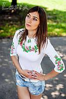 Жіноча вишиванка Вінок Дунаю рожевий