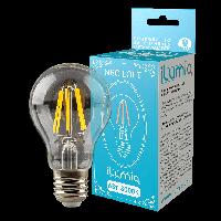Светодиодная филаментная лампа Ilumia 6Вт, цоколь Е27, 3000К (теплый белый), 600Лм (059)