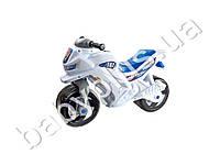 Каталка Спортивный мотоцикл двухколесный, цвет белый. ORION 501-B