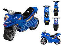 Каталка Спортивный мотоцикл двухколесный, цвет синий. ORION 501-S