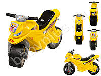 Каталка Спортивный мотоцикл двухколесный, цвет желтый. ORION 501-L