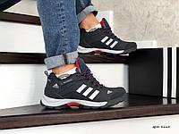 - Зимние мужские кроссовки Adidas 8664 темно Синий с белым, фото 1