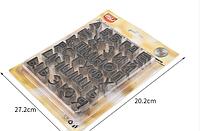 Набор вырубок для для мастики пряника алфавит 3,5 см выс