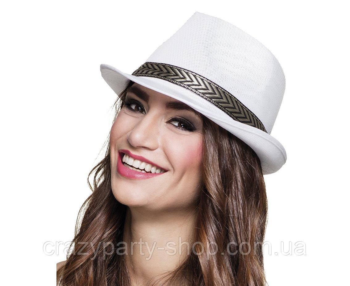Шляпа федора  серая