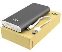 Портативное зарядное устройство Power Bank Mi, Павер Банк чёрного цвета, аналог Xiaomi