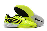 Футзалки (бампы) Nike Lunar Gato II IC Volt/Black/White, фото 1