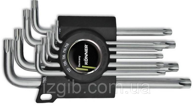 Набор ключей TORX Cr-V 9 шт. (T10–T50)