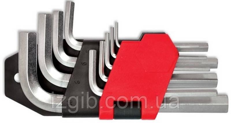 Набор ключей имбусовых Cr-V 9 шт. (1,5–10 мм)